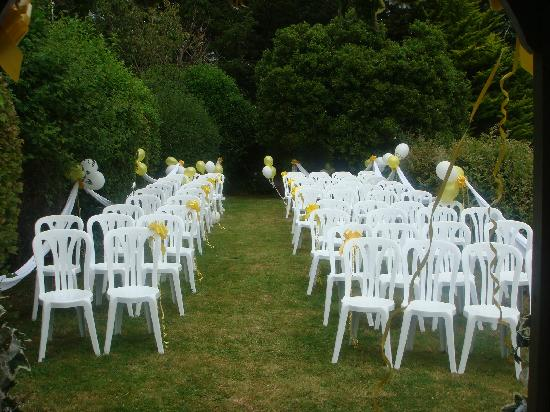The Elmfield: This level of the garden was perfect for the ceremony