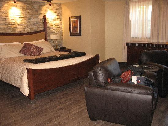 Hotel Chateau Bellevue: Un partie de la chambre 17
