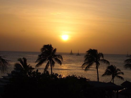 Aruba Marriott Resort & Stellaris Casino: View from the Room at Sunset