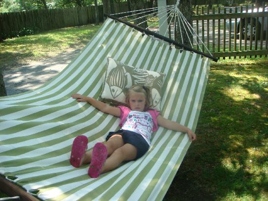 Bowen's by the Bays: Relaxing in the hammock...