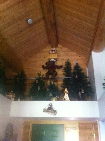 Mt. Charleston Lodge: The only bear you'll see on Mount Charleston (Just a little creepy . . . !)