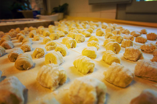 Maria's Cookery Course - Cooking School Venice: gnocchi ready to be boiled