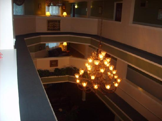 The Grand Hotel: Lobby  from the third floor