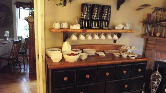 "Historic Davy House B&B Inn: Our ""Pre-Breakfast"" Kof-E-Bar - fresh pastries/fruits & alot more - starts at 8:00am"
