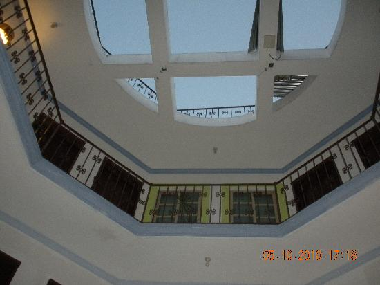 Hotel Alux: Interior ceiling