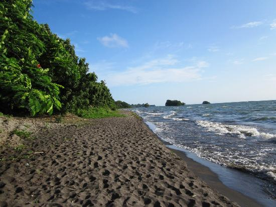 Altagracia, Nicaragua: Playa a dos pasos de la finca