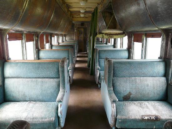 The Alberta Railway Museum: Inside passenger car