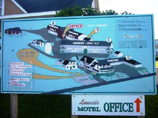 Laurie's Motor Inn: the layout of the motel