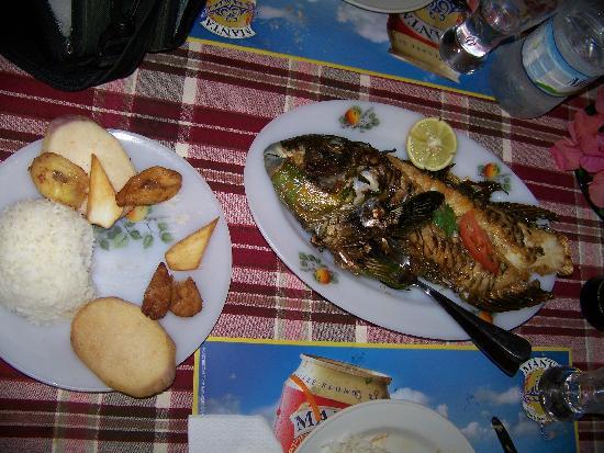 Hôtel Le Beaupré Ouvéa : poisson perroquet au diner