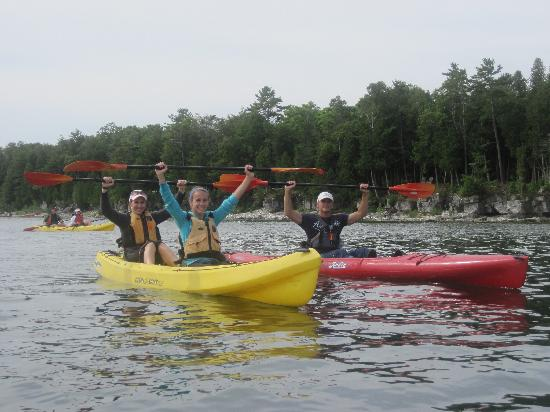 """Door County Kayak Tours : Our Family Experiencing """"Victory"""""""