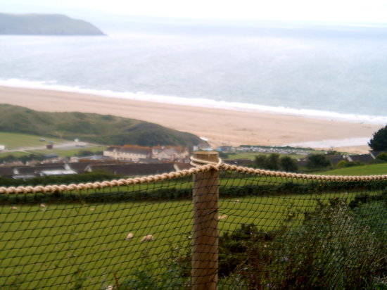 Woolacombe Beach: A view from the beach from the hills