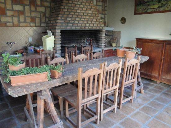 Hostal del Valle : open fire area