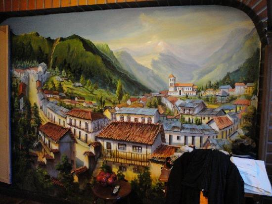 Hostal Estrella Andina: mural in my room
