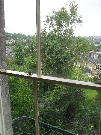 Bloomfield House: view from window. not too far away from town, but private too!