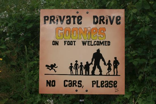Oregon Film Museum: driveway to the Goonies house