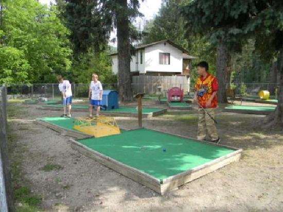 Williamson's Lake Campground: Challenging mini golf