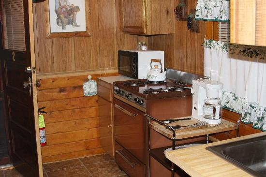 Wagon Wheel RV Campground and Cabins: Kitchen area Cabin #2