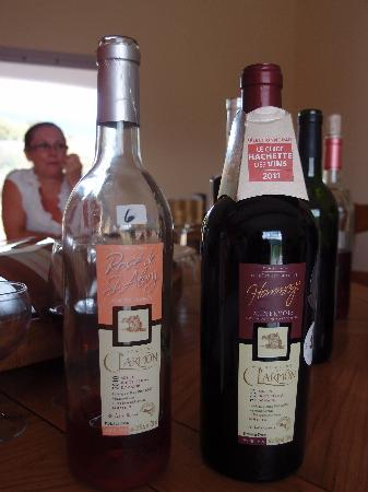 Relais de l'Alsou : Le vin servi est bio et présenté par les viticulteurs qui le font