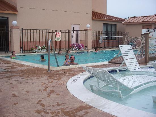 Sleep Inn & Suites Rehoboth Beach Area : Larger pool right next to the smaller area.  Excellent when you have smaller children as well as