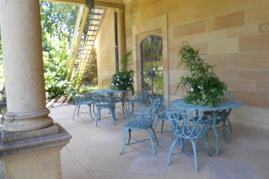 "Paine Art Center and Gardens: their downstairs ""deck"""