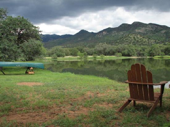 Sunglow Ranch - Arizona Guest Ranch and Resort: Sunglow pond after much rain