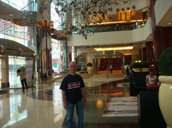 at hotel lobby