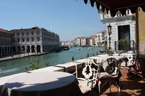 Al Ponte Antico Hotel: the Grand Canal from the terrace