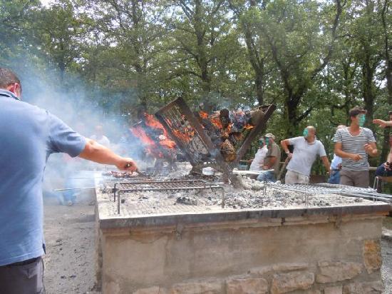 Parco dei Sette Frati: area del barbecue