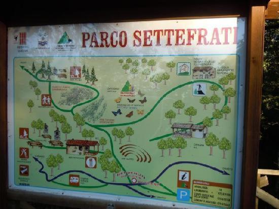 Parco dei Sette Frati: insegna all'ingresso