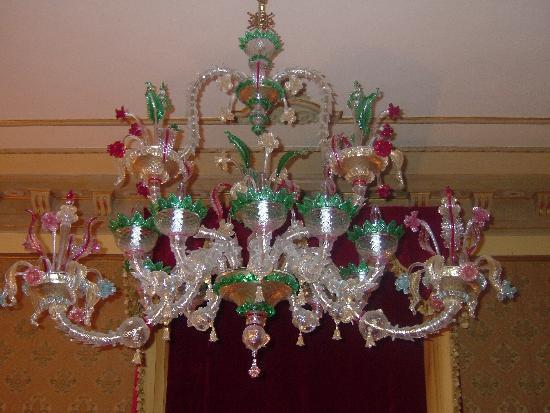 The murano glass chandelier picture of palazzo paruta venice palazzo paruta the murano glass chandelier aloadofball Image collections