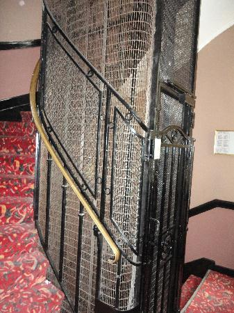 Elysees Hotel: Antique style elevator