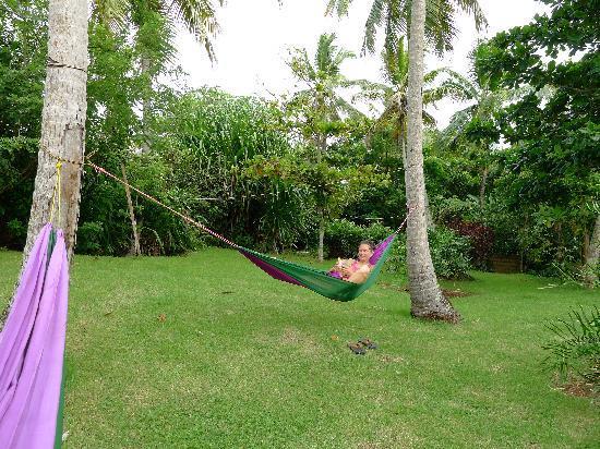 Hotel el Marinique : hammock time in the garden 2