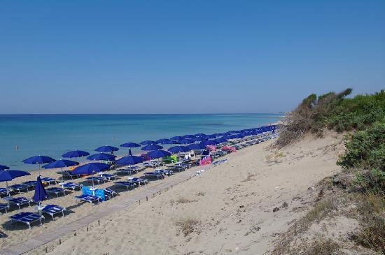 Riva degli Angeli : Vista della spiaggia privata