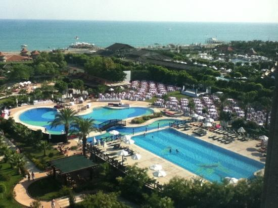 Sherwood Breezes Resort : two of the pool areas from the 6th floor