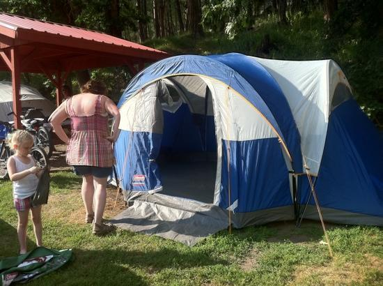 Kemp's Kamp: our tent site