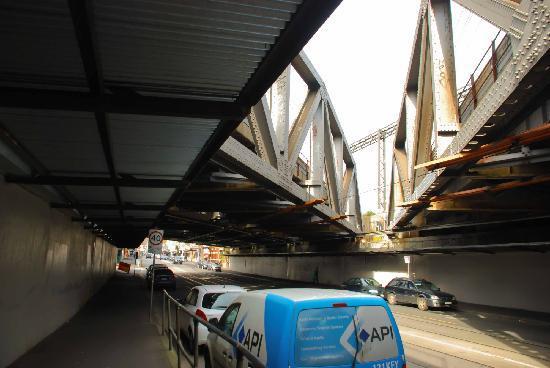 Under the Swan Street bridge