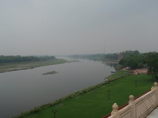 View of the river from Taj Mahal