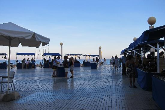 Altea Market : stalls opened after 5-6 nearby the beach