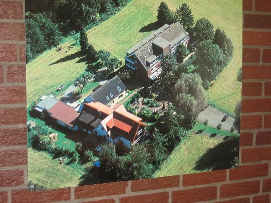 Haus Holtdirk: Luftaufnahme aus dem Aufenthaltsraum