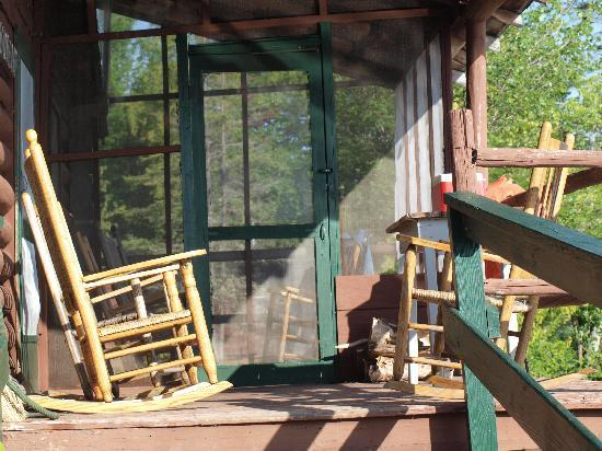 Grant S Kennebago Camps Porch On 100 Year Old Cabin