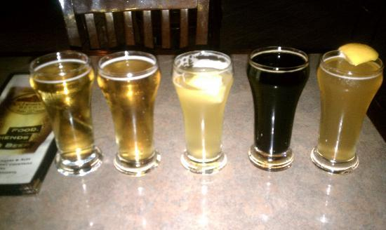 Rochester Mills Beer Company: My beer sampler - Lazy Daze Lager, Lazy Daze Light, Water St Wheat, Sacreligous Stout, Organic W