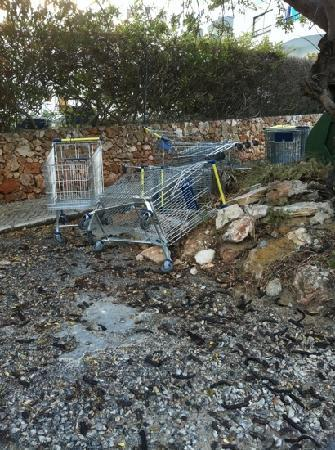 opposite reception at cerro malpique lidl trolley graveyard