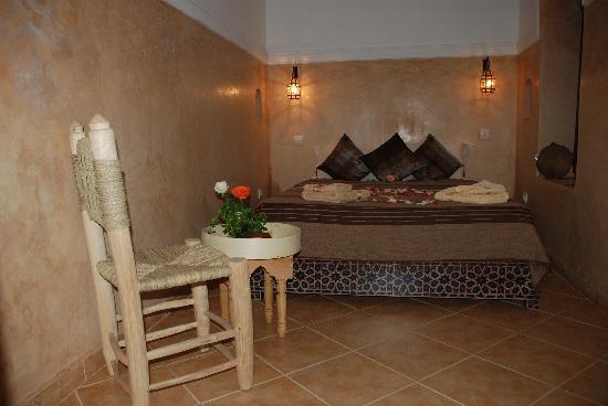 Riad Dar Jdati: Chambre Colombe lit 2 personnes salle de bain