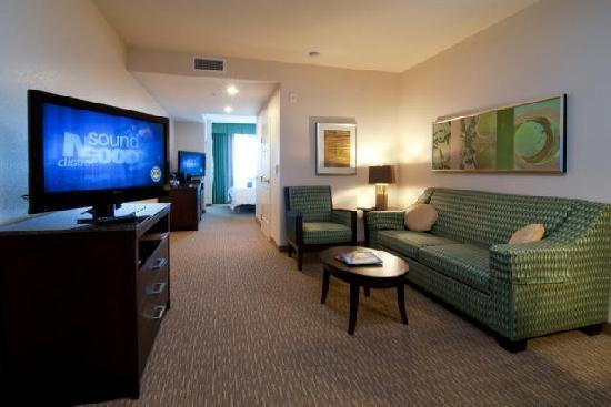 Hilton Garden Inn San Bernardino: Spacious guest rooms and suites with modern amenities like flat screen tvs, free WiFi, and more!