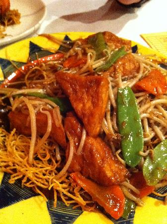 Pan fried noodle with tofu picture of sunflower chinese for Asian cuisine columbus ohio