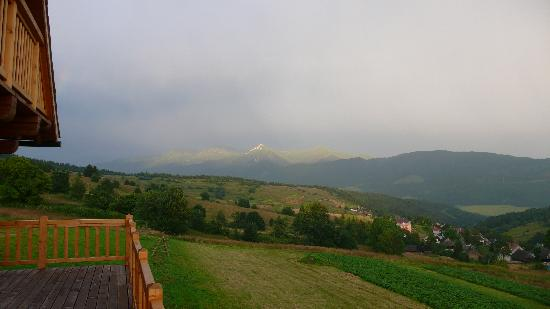 Male Borove, Slovakia: view from the terrace of the Cottage