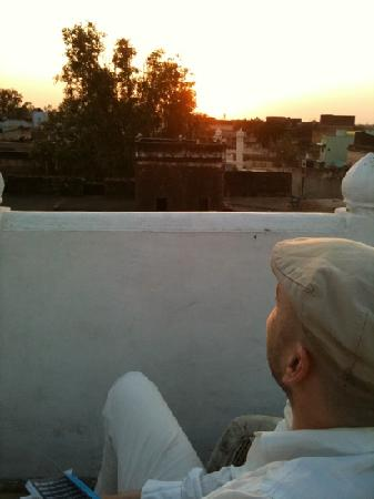 Hotel Mandawa Haveli: enjoying sunset