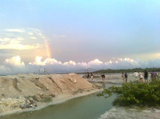 Rio Lagartos, Mexiko: Salinas al atardecer. Río Lagartos, Yucatán, México