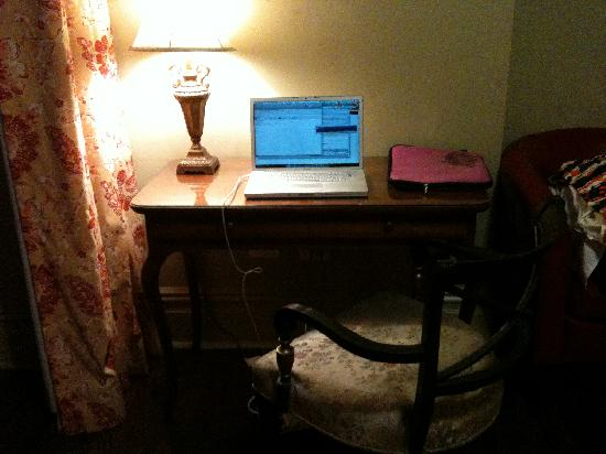 Chelsea Hotel: my desk in my room