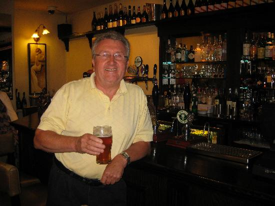 The Black Horse Inn: Father in law enjoying a pint